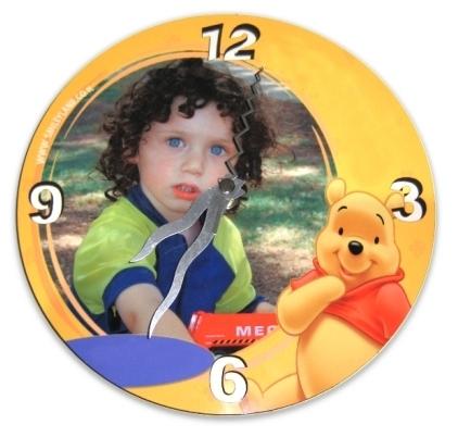 """שעון עץ מספרים  עגול 20*20ס""""מ"""