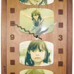 חדש- שעון 4 תמונות פרח מעוצב
