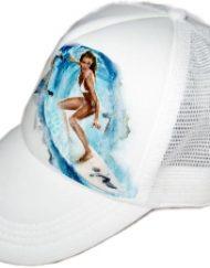 כובע מצחיה היפ-הופ לבן