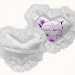 כרית טבעות לחתן וכלה מפוארת