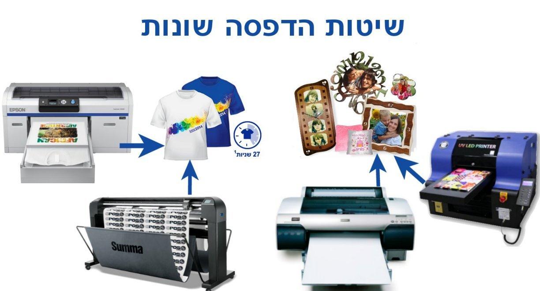 סיכום שיטות ההדפסה הקיימות